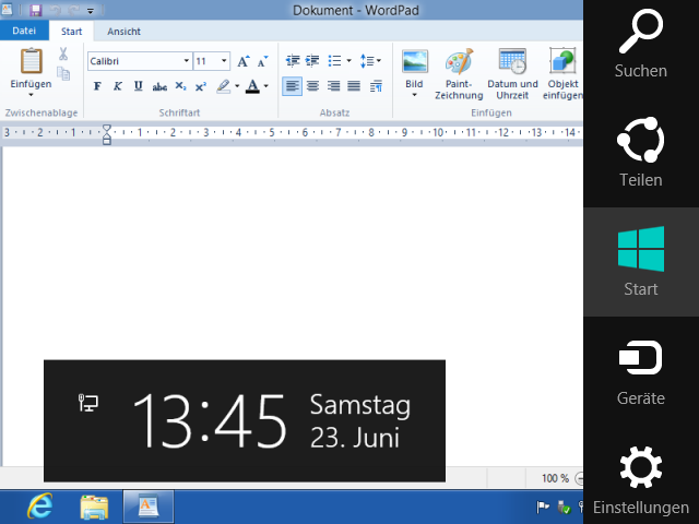 Windows 8 CharmBar
