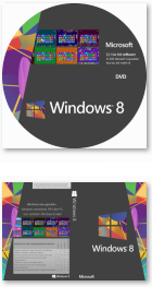 Windows 8 All-in-One DVD-Label und Cover