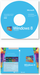 Windows 8 Enterprise DVD-Label und Cover