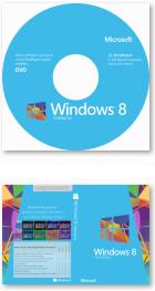 Windows 8 Enterprise DVD-Label und Cover