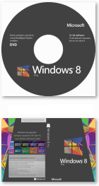 Windows 8 Pro DVD-Label und Cover