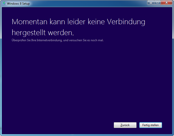 Windows  8 Pro Download Fehler