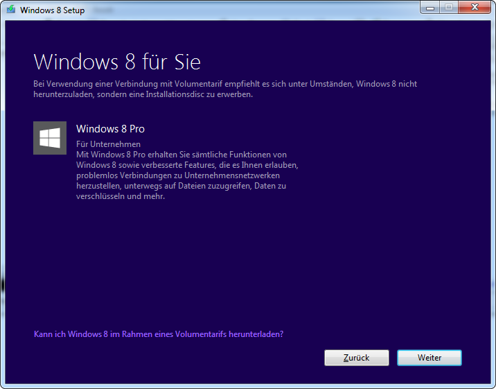 Windows 8 Pro Download-Version