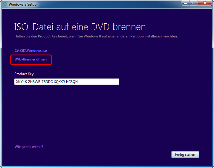 Windows 8 Pro Download ISO brennen