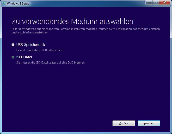 Windows 8 Pro ISO oder USB-Stick erstellen