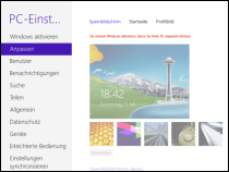 Windows 8 Enterprise Sperrbildschirm