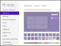 Windows 8 Enterprise Startseite