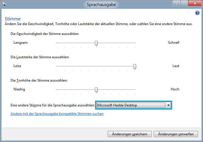 Shortcut Windows + Enter Sprachausgabe