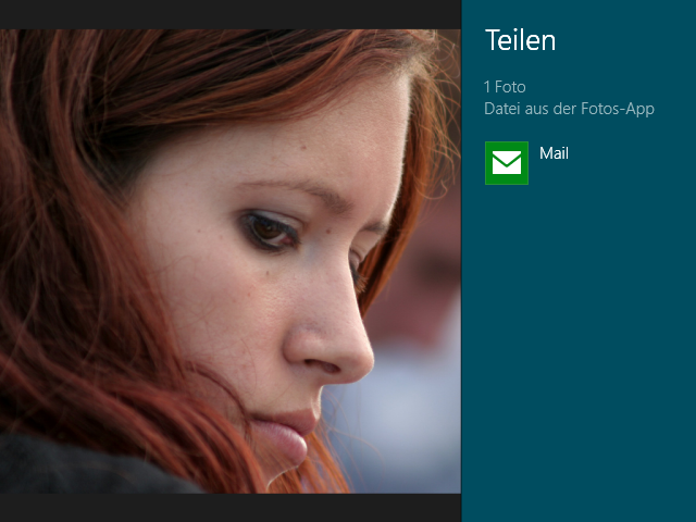 Shortcut Windows + H Teilen