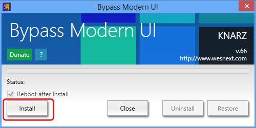 Bypass Modern UI Start