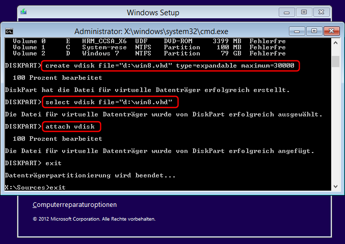 Windows 8 VHD Installation