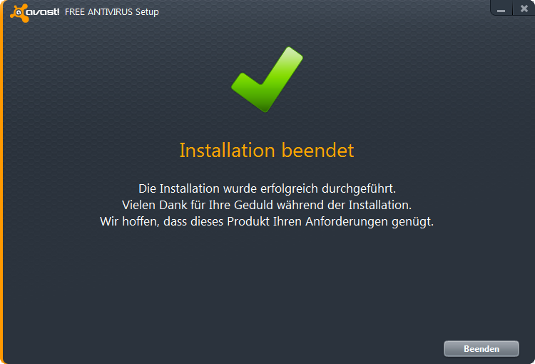 Virenscanner Avast Free Antivirus