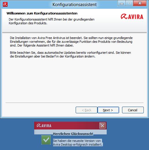 Virenscanner Avira Free Antivirus