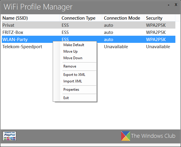 WiFi Profile Manager