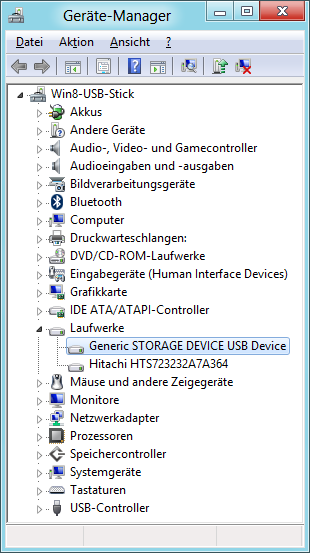 Generic USB-Treiber im Gerätemanager