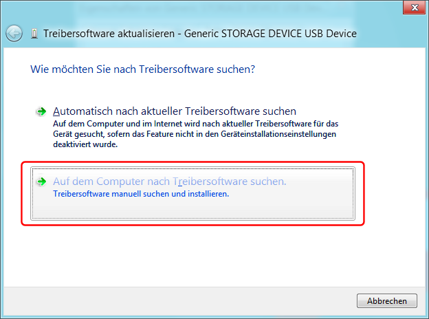 USB-Treiber installieren Bild 2