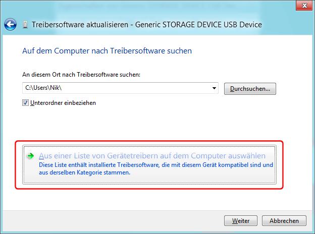 USB-Treiber installieren Bild 3