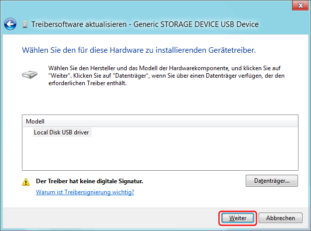 USB-Treiber installieren Bild 6