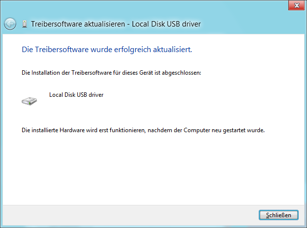 USB-Treiber installieren Bild 9